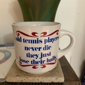 Awesome vintage tennis ball joke coffee tea mug